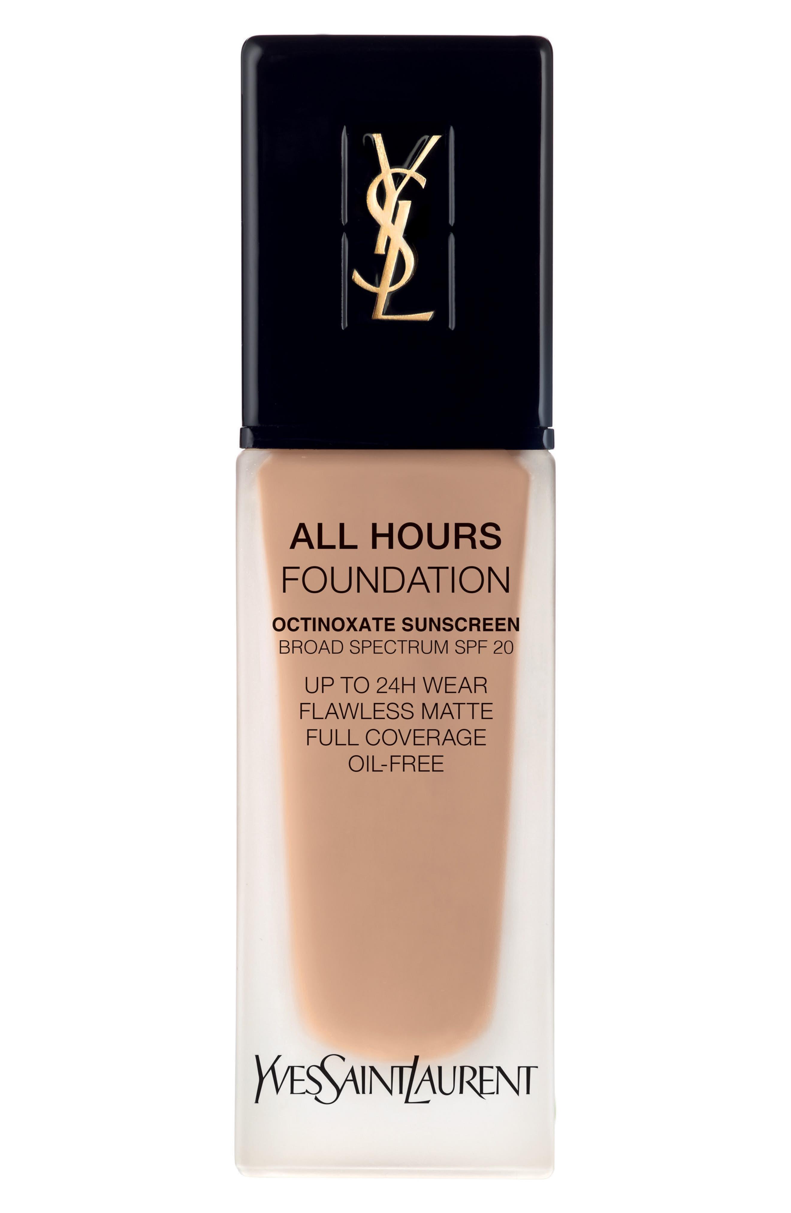 Yves Saint Laurent All Hours Full Coverage Matte Foundation Spf 20 - B50 Honey