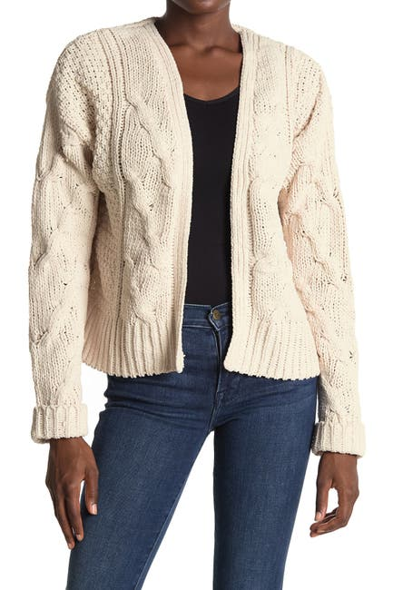 Image of SUPPLIES BY UNIONBAY Elisa Cable Knit Chenille Cardigan