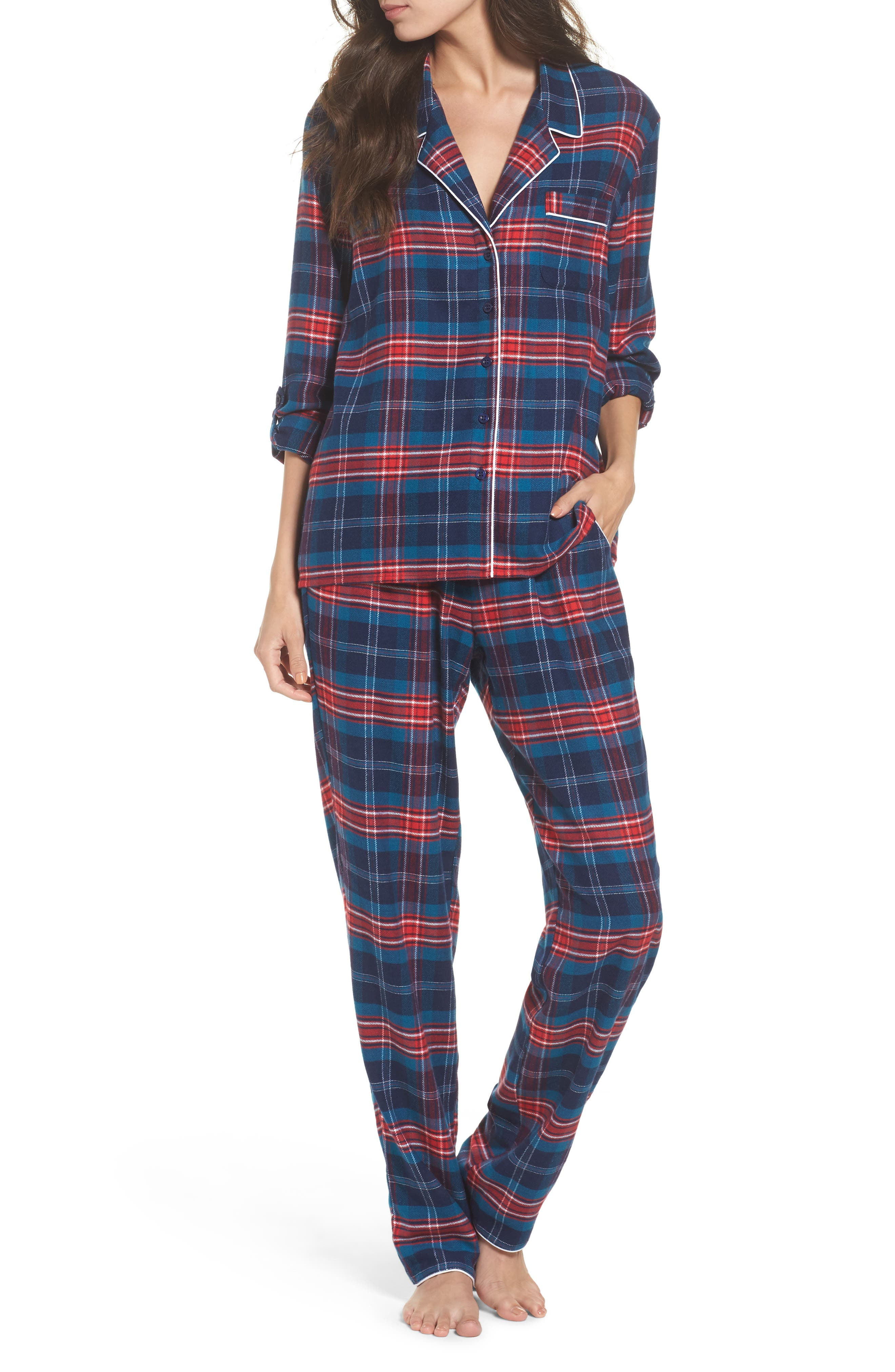 ,                             Lingerie Starlight Flannel Pajamas,                             Main thumbnail 41, color,                             400