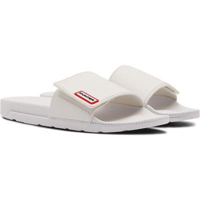 Hunter Original Adjustable Slide Sandal, White