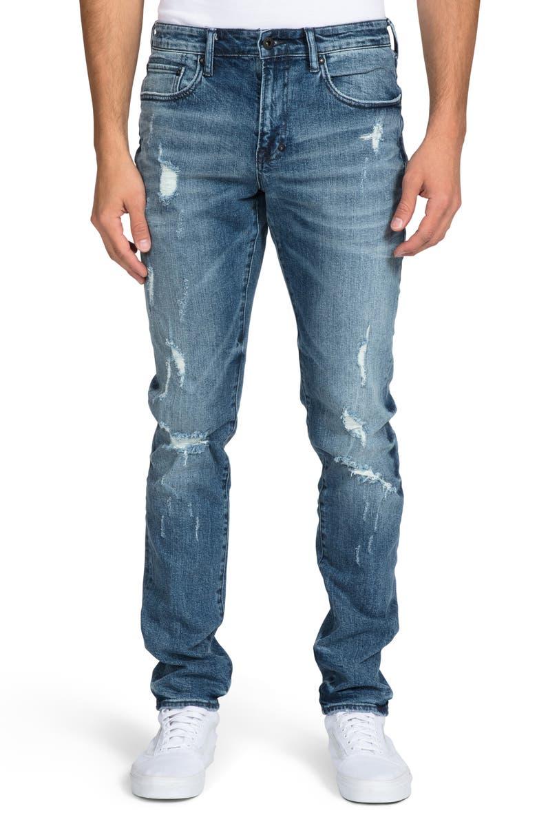 PRPS Le Sabre Ripped Slim Fit Jeans, Main, color, THE FIVE