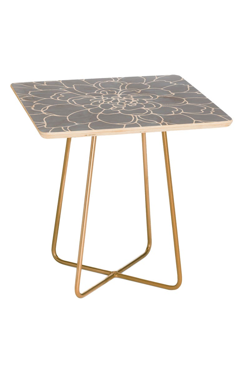DENY DESIGNS Frost Side Table, Main, color, GRAY