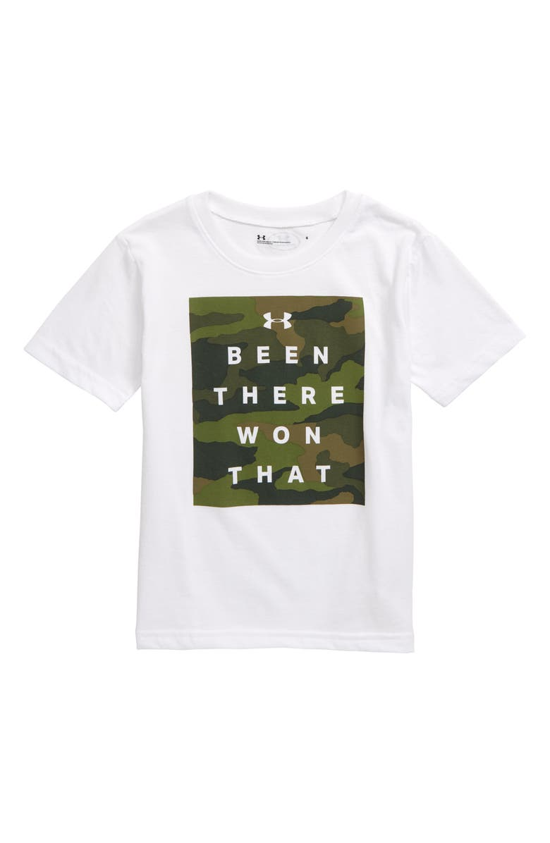 UNDER ARMOUR Been There, Won That HeatGear<sup>®</sup> T-Shirt, Main, color, WHITE