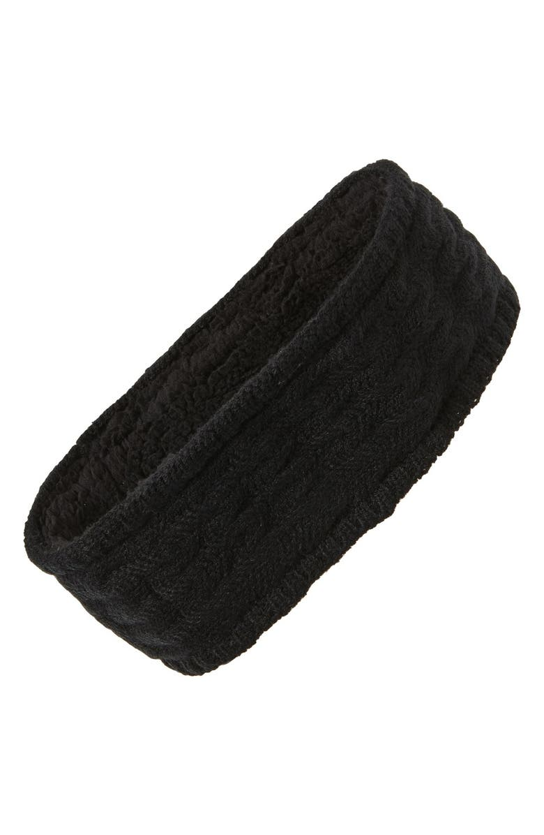 ECHO Knit Headband, Main, color, 001