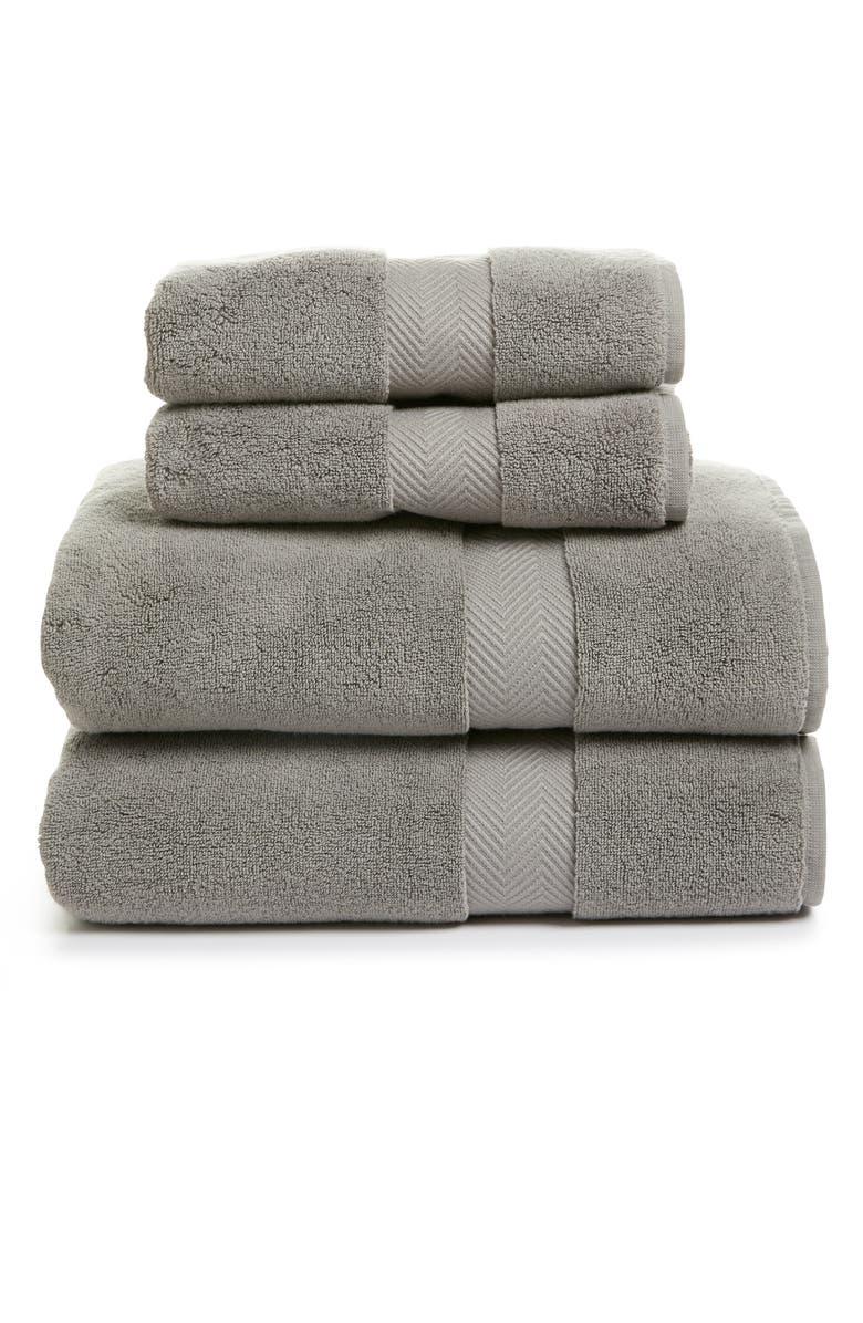 NORDSTROM 4-Piece Hydrocotton Bath Towel & Hand Towel Set, Main, color, GRAPHITE