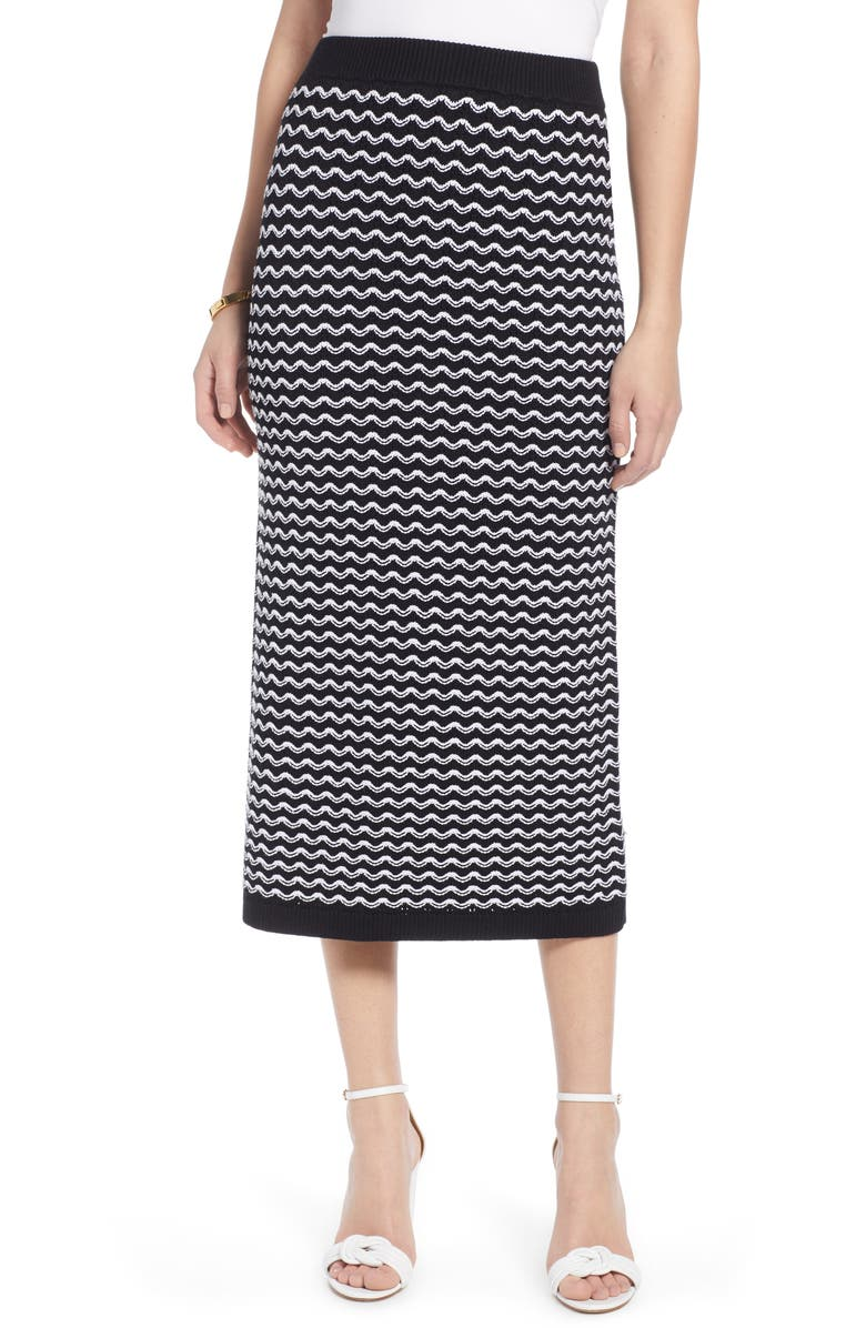 HALOGEN<SUP>®</SUP> Knit Midi Skirt, Main, color, 001