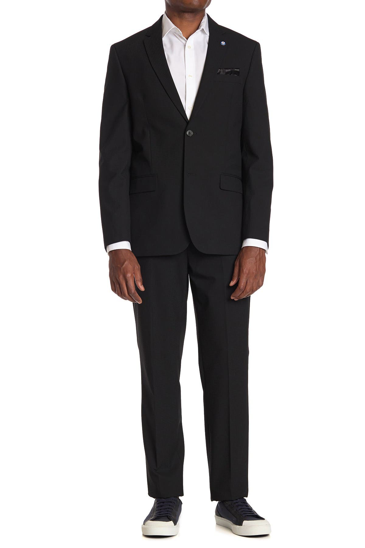 Image of Ben Sherman Black Solid Slim Fit 2-Piece Suit