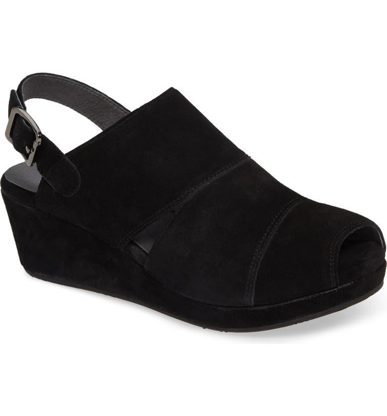 CHOCOLAT BLU Ysabel Platform Sandal, Main, color, BLACK SUEDE