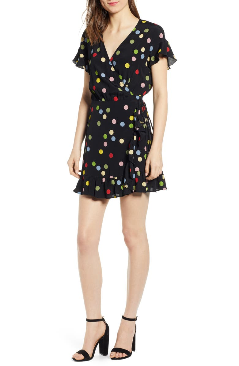 RAILS Koreen Wrap Dress, Main, color, 001