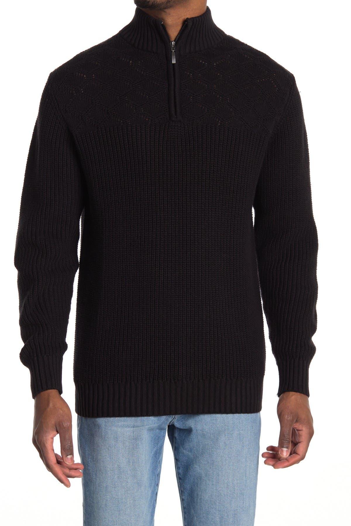 Image of SOUL OF LONDON Quarter Zip Organic Cotton Sweater