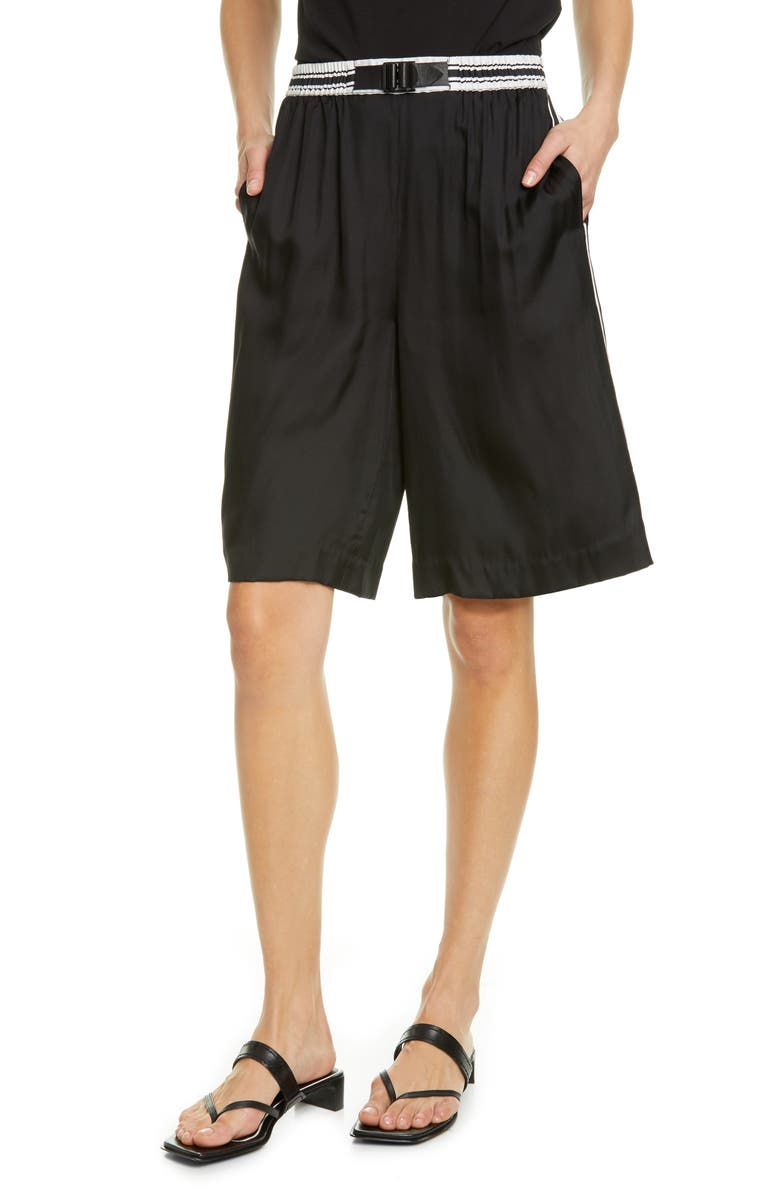 RAG & BONE Isadora Silk Blend Shorts, Main, color, 001