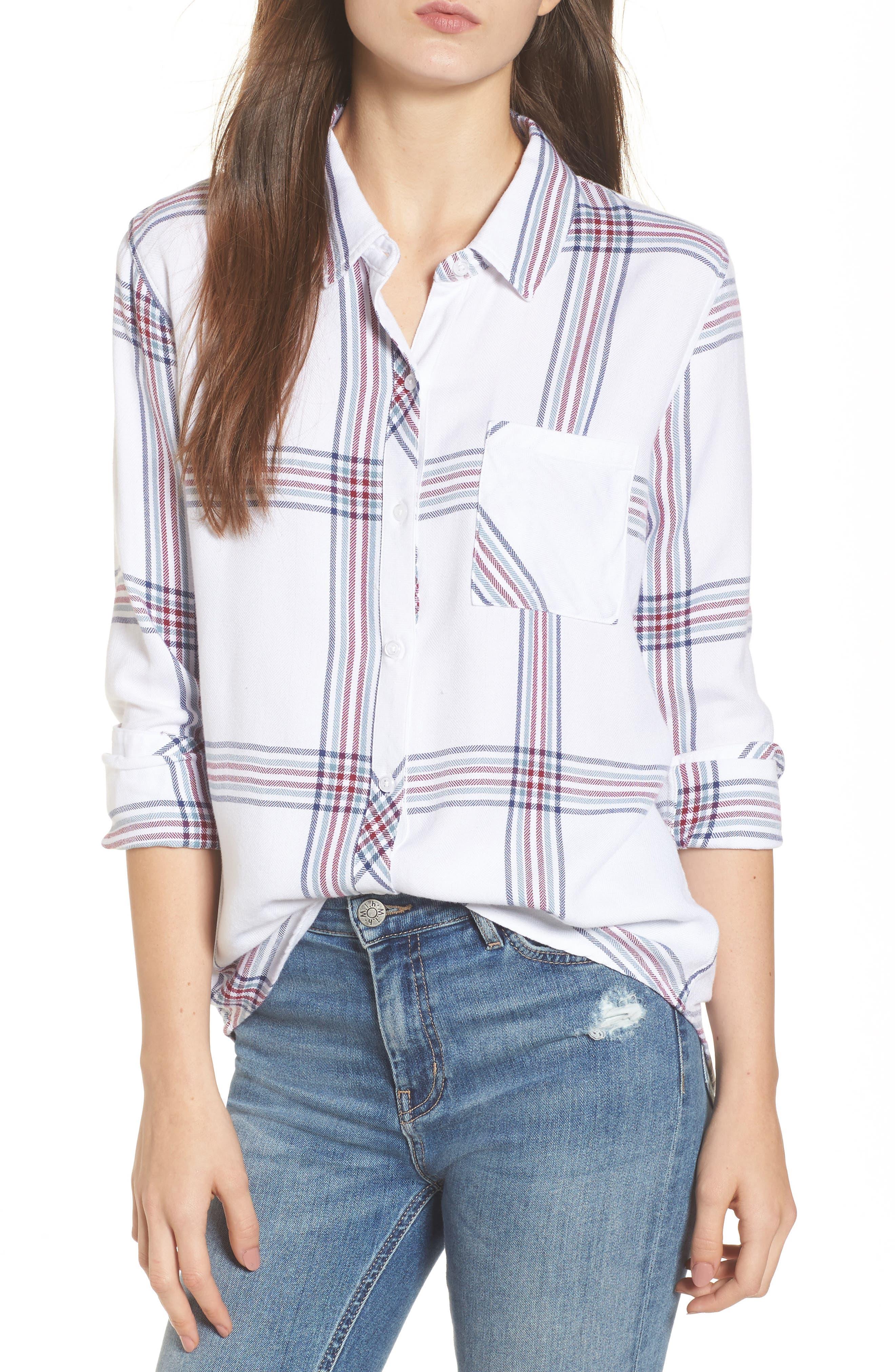 ,                             Hunter Plaid Shirt,                             Main thumbnail 564, color,                             101