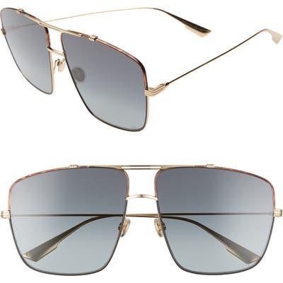 Dior Monsieur2 Oversize Aviator Sunglasses - Havana Black/ Gold/ Grey
