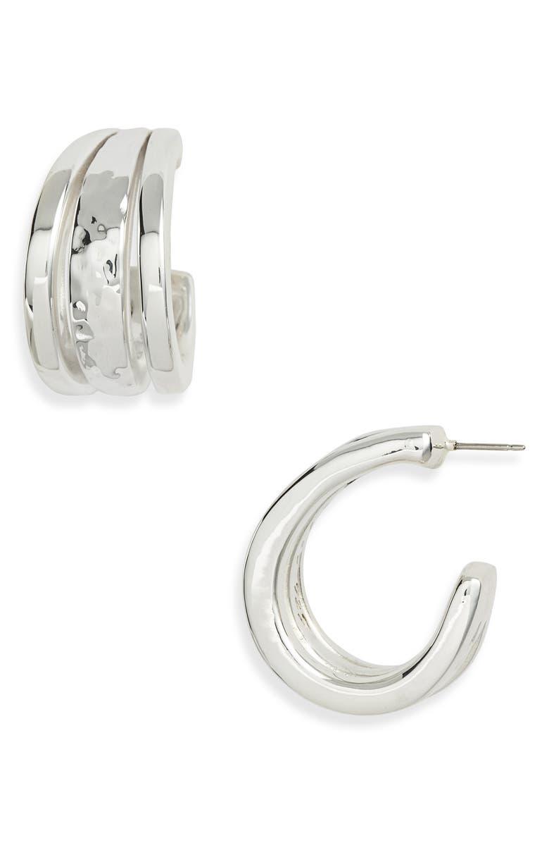 2215728bd Simon Sebbag Hammered Sterling Silver Hoop Earrings | Nordstrom