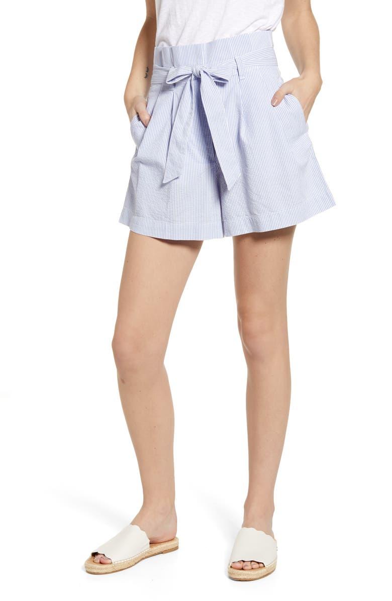 new products d3b7c 72630 J.Crew Paperbag Seersucker Shorts | Nordstrom