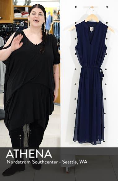 Chiffon Drawstring Midi Dress, sales video thumbnail