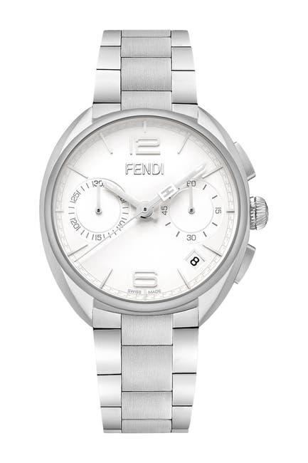 Image of FENDI Men's Momento Stainless Steel Bracelet Watch, 40 mm