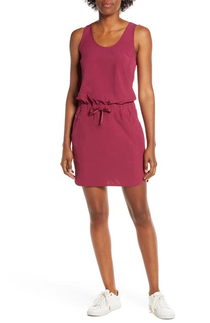 Patagonia Fleetwith Drawcord Dress In Arrow Red
