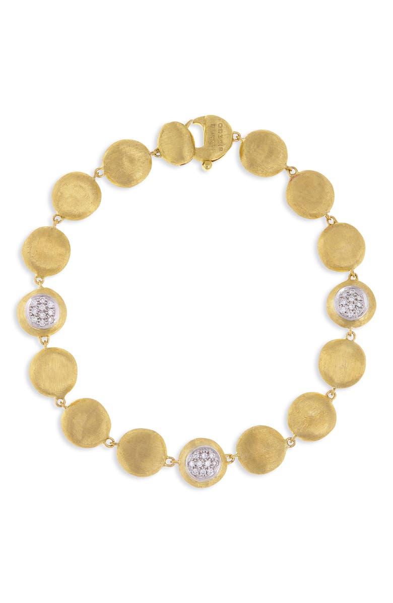 MARCO BICEGO Jaipur Diamond Disc Bracelet, Main, color, YELLOW GOLD