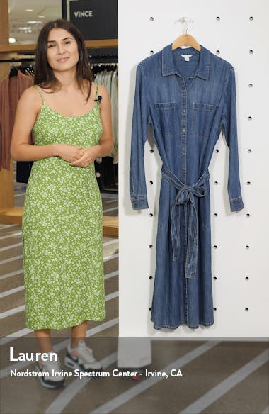 Cotton Denim Shirtdress, sales video thumbnail