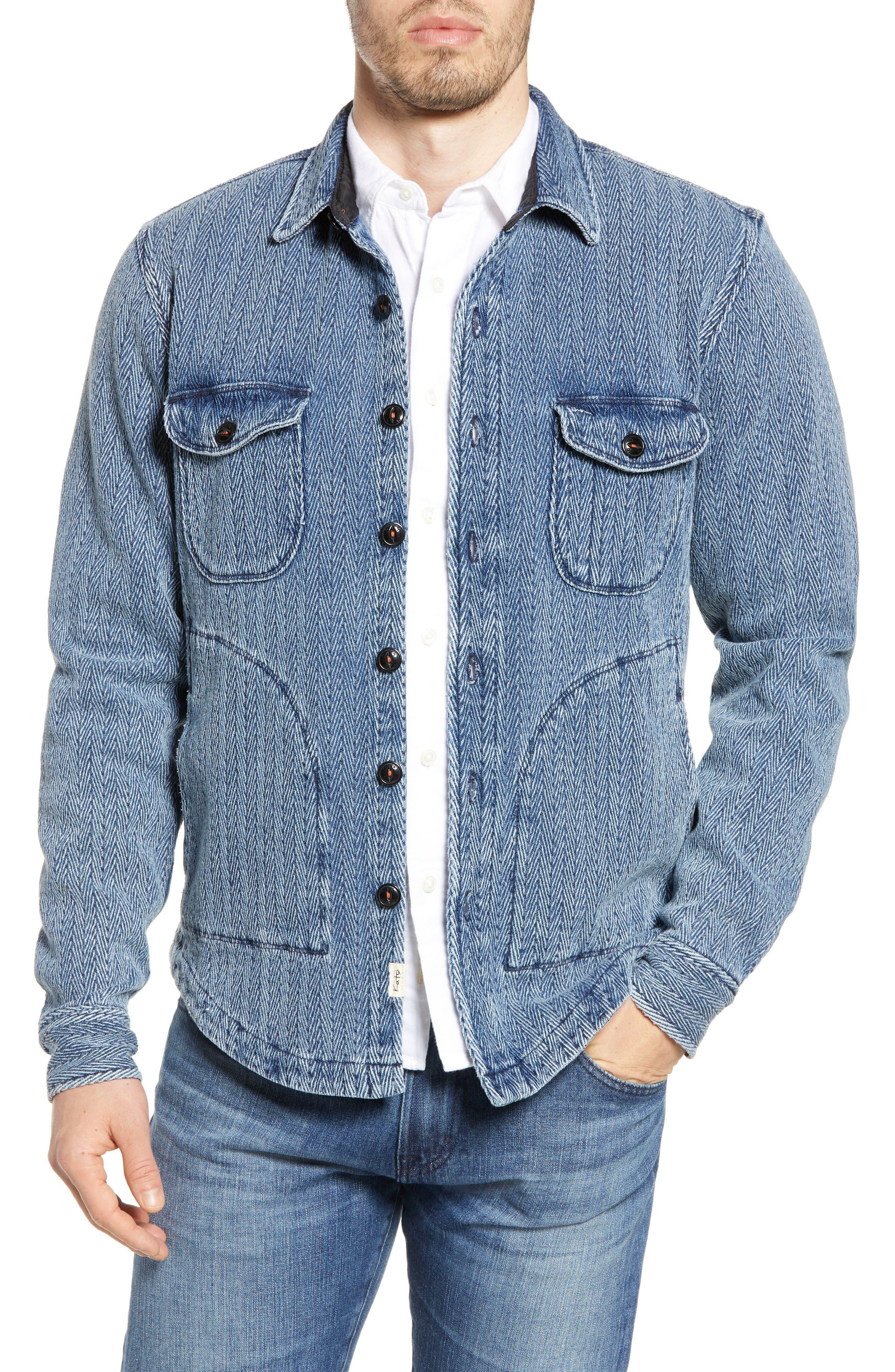 Edwardian Men's Fashion & Clothing 1900-1910s Mens Kato The Anvil Herringbone Shirt Jacket $358.00 AT vintagedancer.com