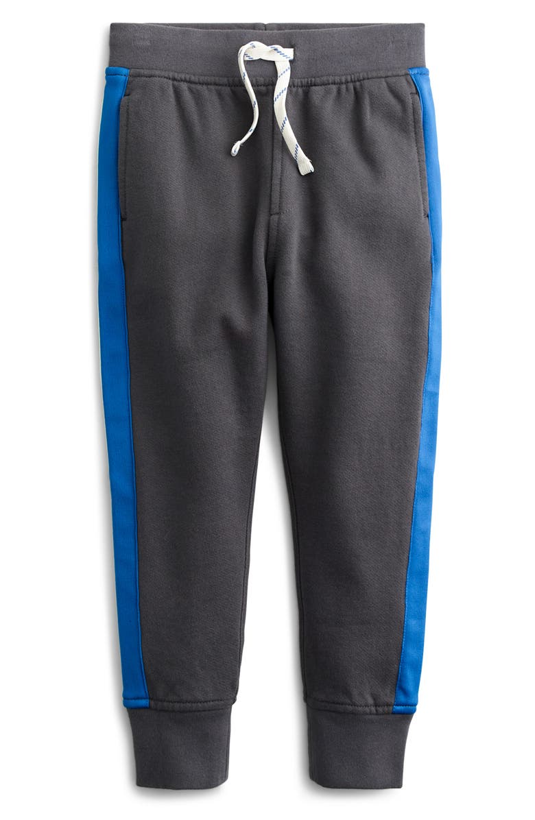 CREWCUTS BY J.CREW Side Stripe Slim Fit Sweatpants, Main, color, SOFT CHARCOAL
