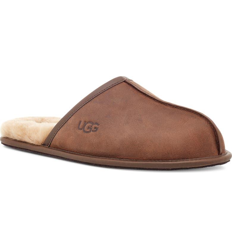 UGG<SUP>®</SUP> Scuff Slipper, Main, color, TAN LEATHER
