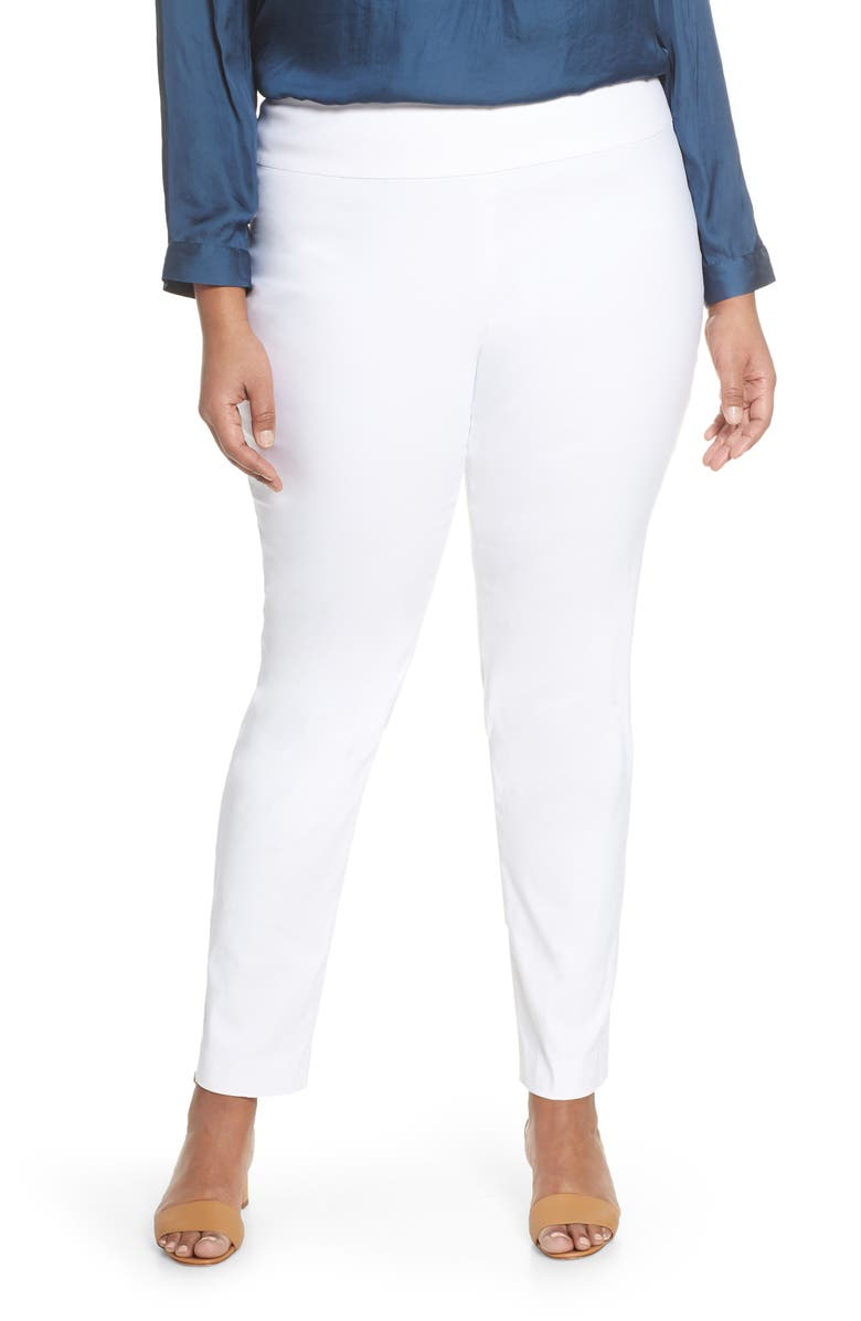 NIC+ZOE Polished Wonderstretch Slim Pants, Main, color, PAPER WHITE