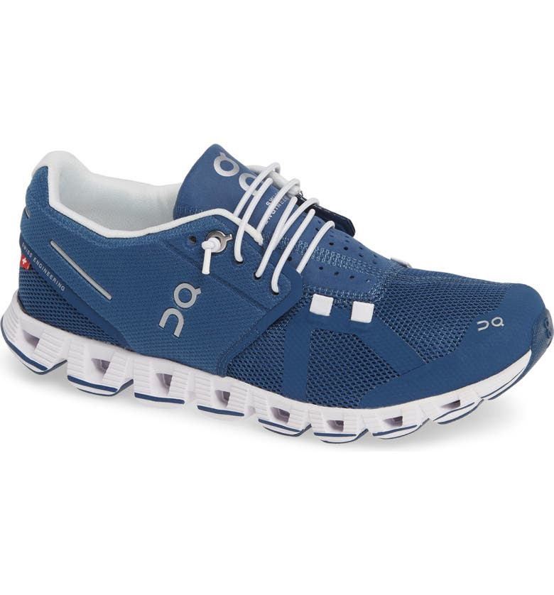 ON RUNNING Cloud Running Shoe, Main, color, DENIM/ WHITE