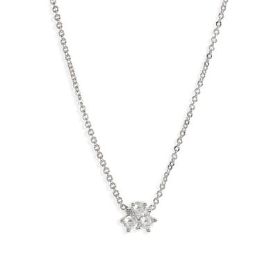 Nordstrom Triple Cubic Zirconia Cluster Necklace