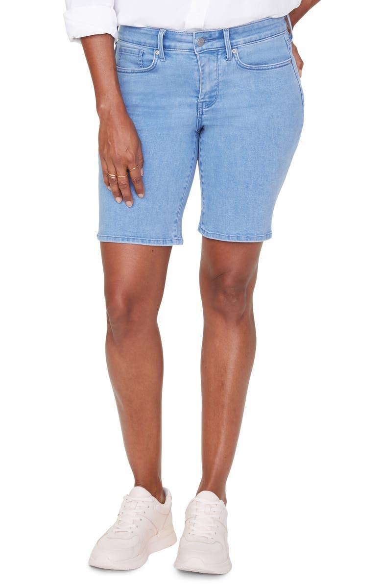 NYDJ Ella Denim Shorts, Main, color, BELLE ISLE
