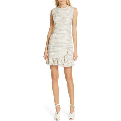 Tailored By Rebecca Taylor Tweed Sheath Dress, Ivory