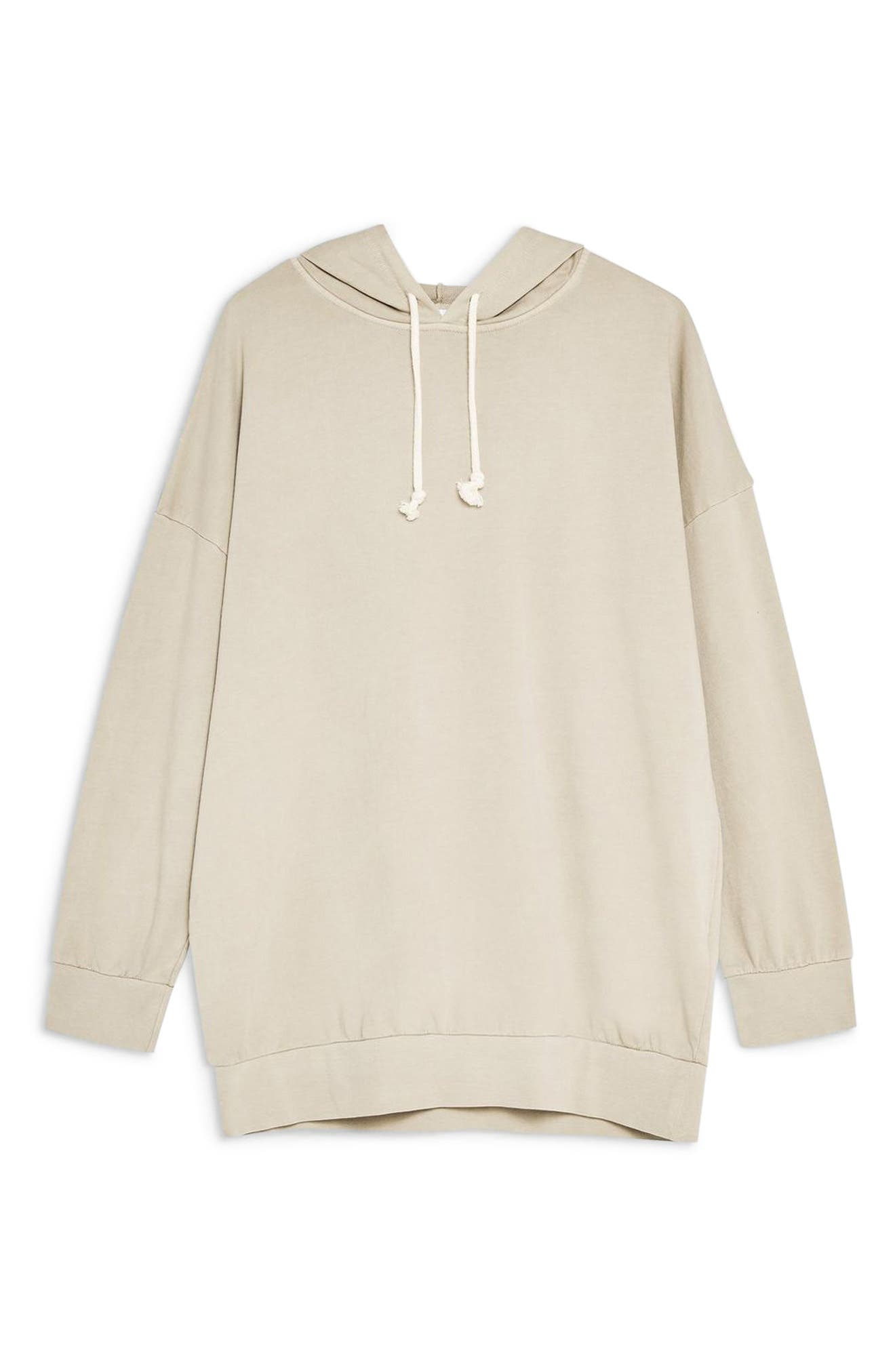 ,                             Oversize Lounge Hoodie,                             Alternate thumbnail 3, color,                             STONE