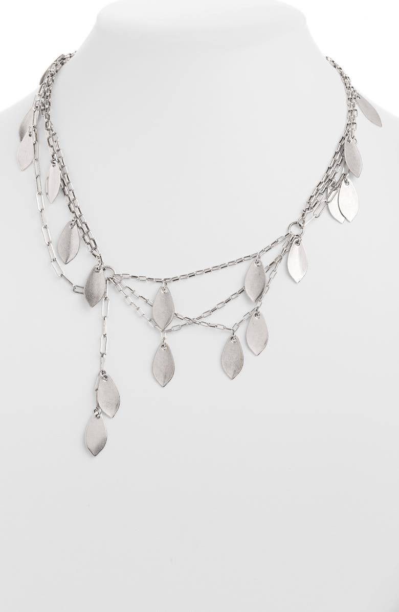 ISABEL MARANT Layered Necklace, Main, color, SILVER