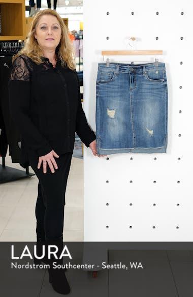 Connie Fray Step Hem Denim Skirt, sales video thumbnail
