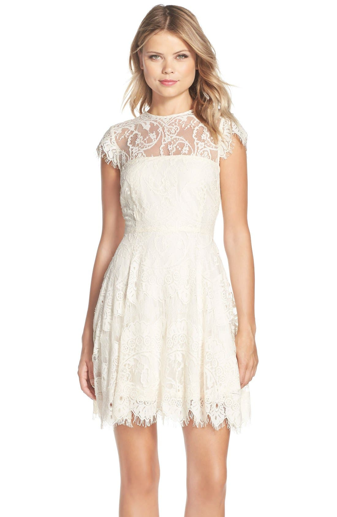 ,                             Rhianna Open Back Lace Fit & Flare Cocktail Dress,                             Main thumbnail 24, color,                             208