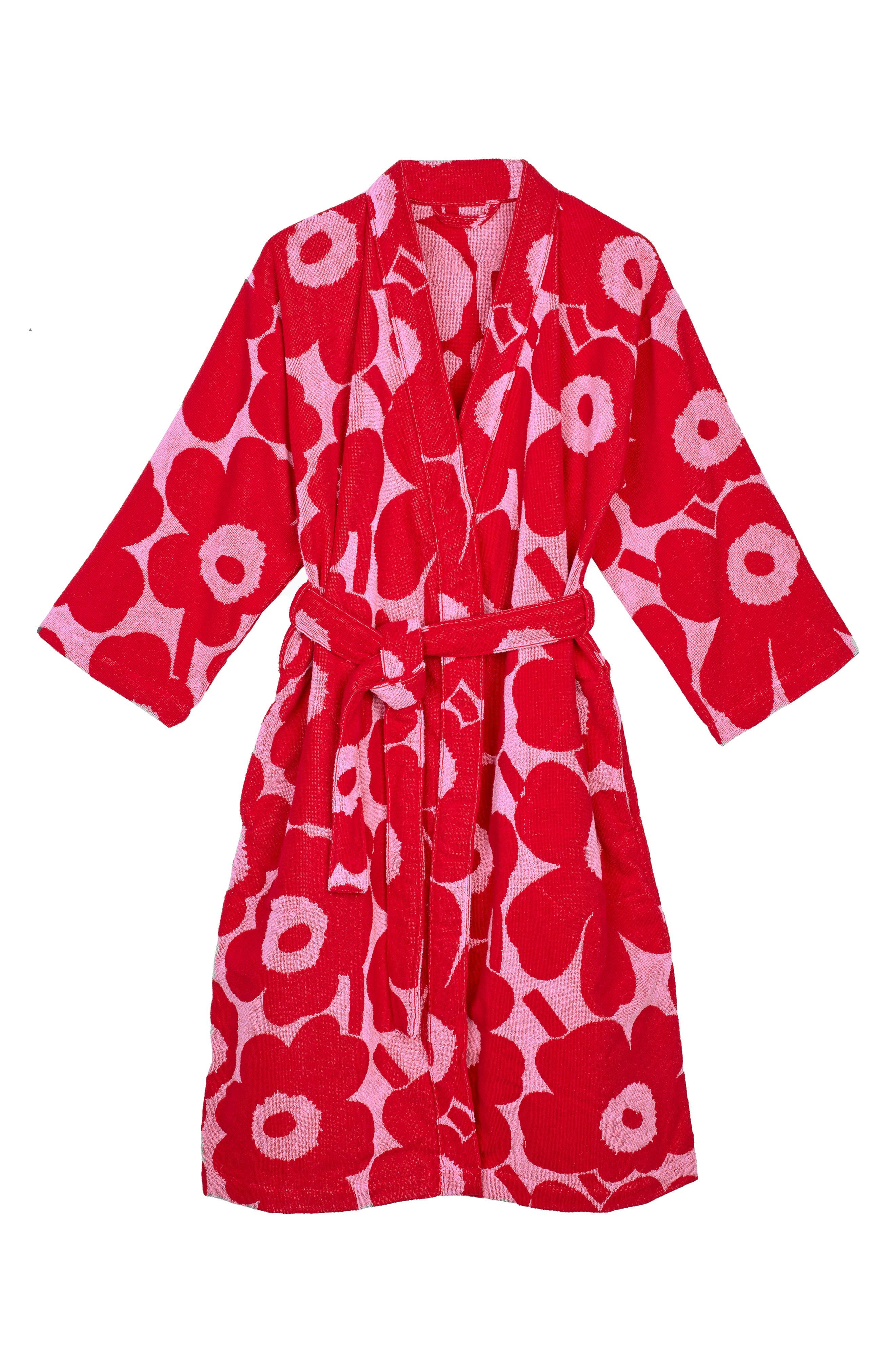 Unikko Cotton Terry Cloth Robe
