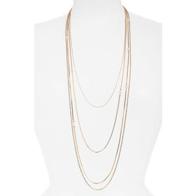 Halogen Mixed Chain Multistrand Necklace