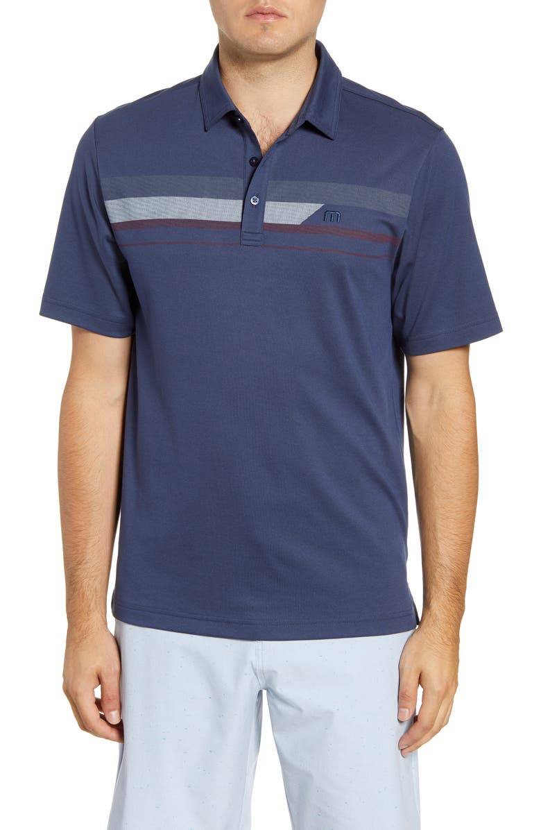 TRAVISMATHEW Nash Regular Fit Polo, Main, color, MOOD INDIGO