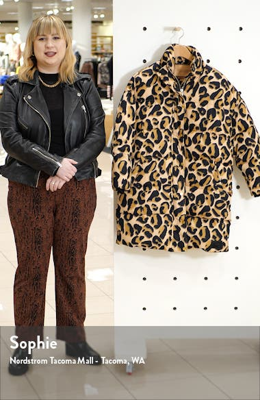 Animal Print Puffer Jacket, sales video thumbnail