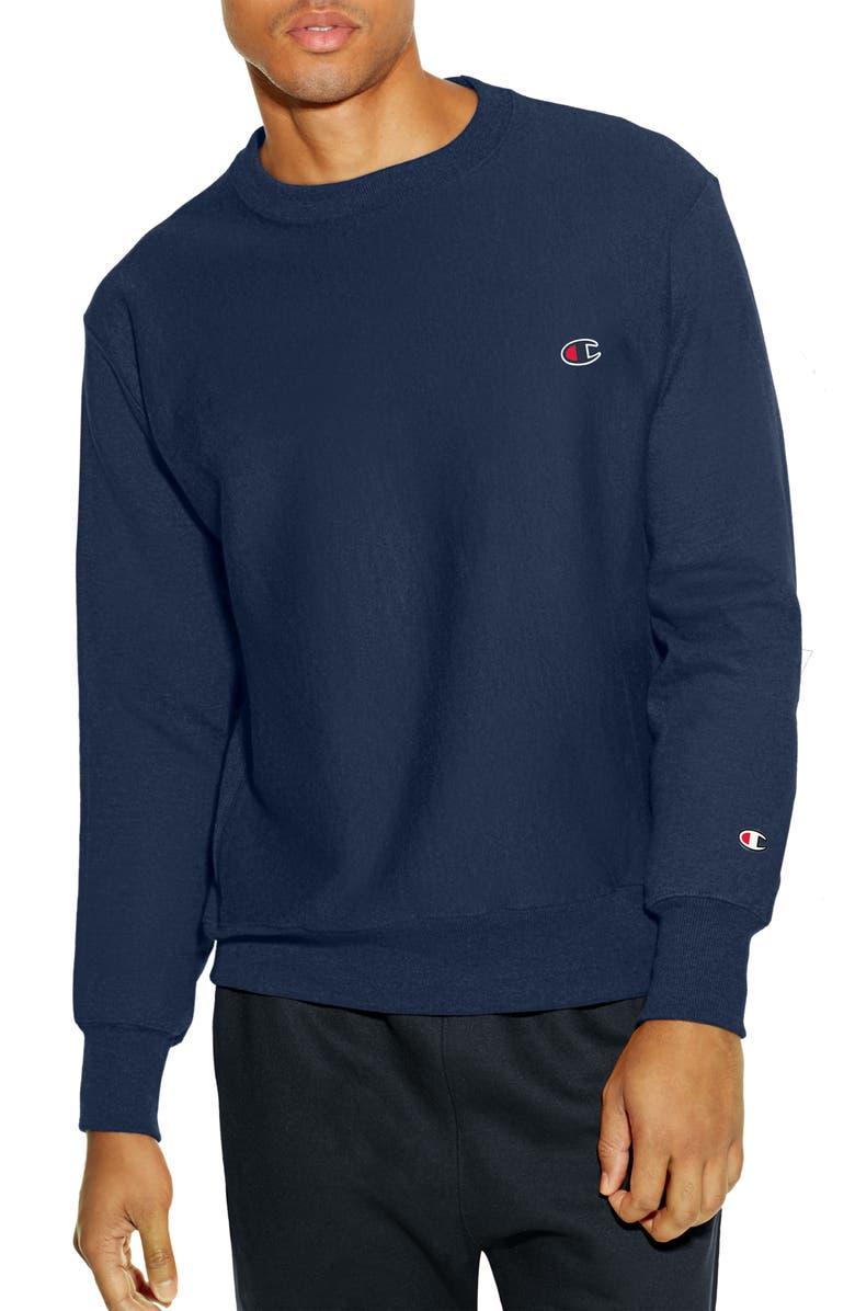 CHAMPION Reverse Weave<sup>®</sup> Crew Sweatshirt, Main, color, NAVY
