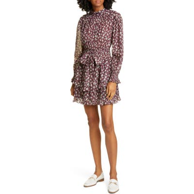 La Vie Rebecca Taylor Cherise Long Sleeve Minidress
