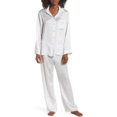Papinelle Silk Pajamas, Grey