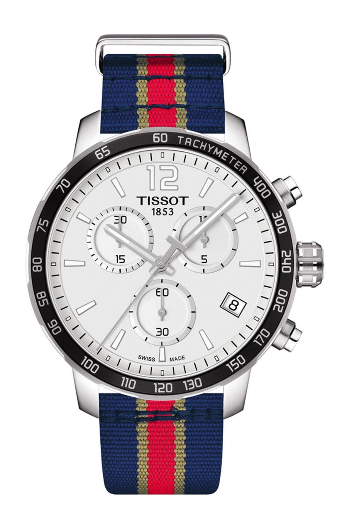 Image of Tissot Men's Quickster Chronograph NBA New Orleans Pelicans Watch, 42mm