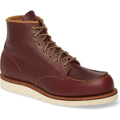 Red Wing 6 Inch Moc Toe Boot, Red
