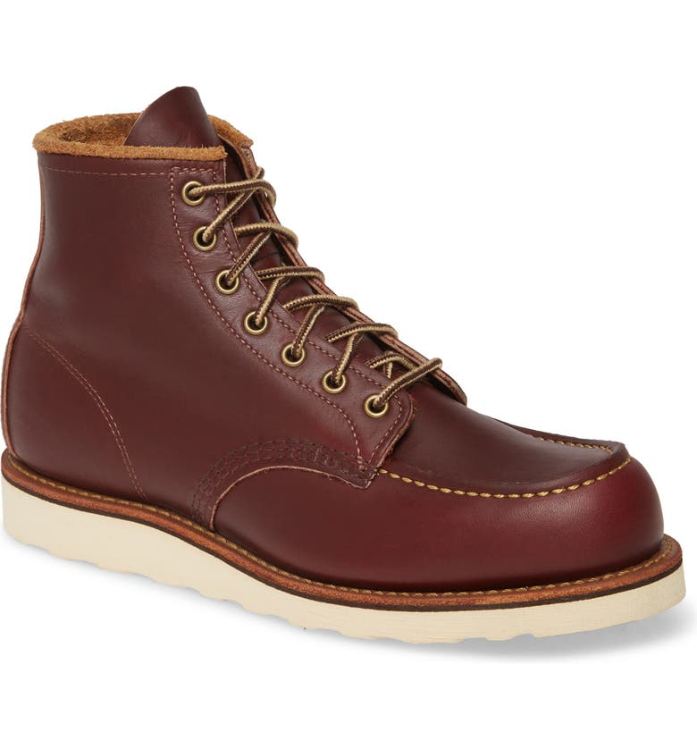 RED WING 6 Inch Moc Toe Boot, Main, color, OXBLOOD MESA LEATHER