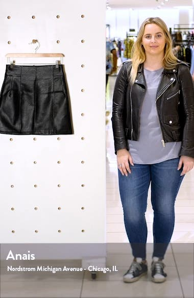 Eliesse Faux Leather Miniskirt, sales video thumbnail