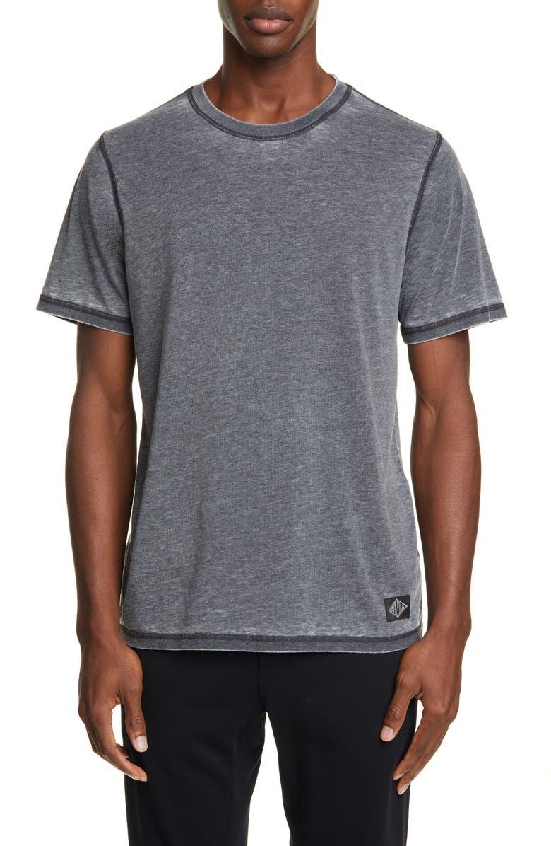 OVADIA & SONS Reverse Burnout T-Shirt, Main, color, GREY