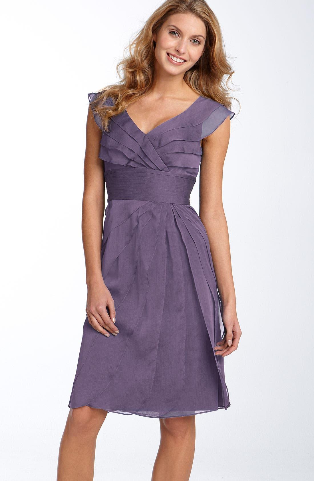 ,                             Tiered Chiffon Dress,                             Main thumbnail 44, color,                             521