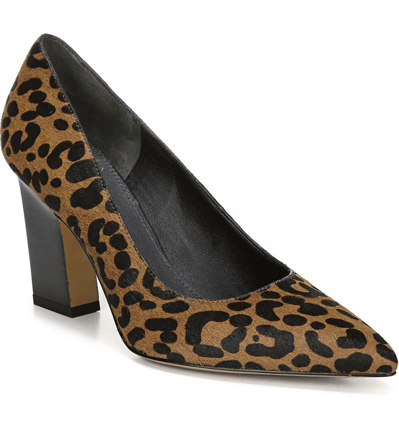SARTO BY FRANCO SARTO Sasha Pointy Toe Genuine Calf Hair Pump, Main, color, LEOPARD PRINT CALF HAIR